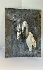 Ghost Appearing Wall Haunted dollhouse Miniature 1:12 scale Pat Benedict OOAK