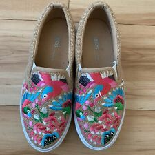 Asos Chunky Canvas Platform Embroidered Tropical Sneaker EUR38/ US 7 (5) READ!