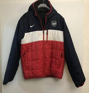 Nike Arsenal Reversable Puffer Jacket Size M Football