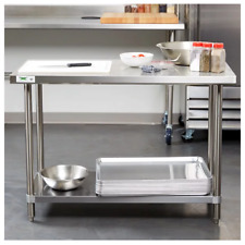 """Heavy Duty 24"""" x 48"""" All Stainless Steel Work Prep Table Commercial 16 Gauge Nsf"""