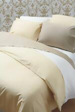 200 Thread Count 100% Egyptian Cotton Plain Duvet Cover in White Single Bed