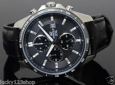 EFR-512L-8A 100% Genuine Leather Casio Watch Edifice Tachymeter Date display