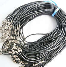 Free Shipping 200pcs real leather black necklace cord 3mm