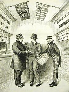 CONSUMERS IMPORTS DOMESTICS SPENDING 1888 Print Matted