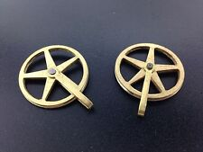 "Vienna Clock Regulator Brass Pulley 1 1/8 "" Set of 2"