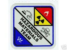 HAZARDOUS MATERIALS TEAM HAZ MAT Highly Reflective Vinyl DECAL