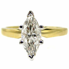 Classic Marquise Cut Diamond Solitaire Engagement Ring in Yellow Gold