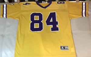 Rare NWOT Starter Alternative Yellow Minnesota Vikings Randy Moss Jersey 54 2XL