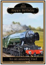 Personalised Steam Train Birthday Card (3 Designs) - Awesome !