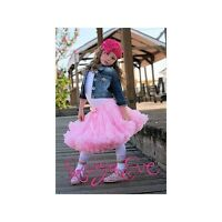 NWT KAIYA EVE Pink tutu Fluff Pettiskirt s 4 6 8 10 12y.old made in USA PS301