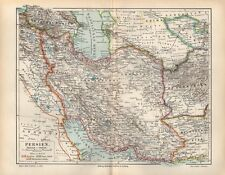 PERSIEN IRAN IRAK KIRMAN TEHERAN  Landkarte von 1896