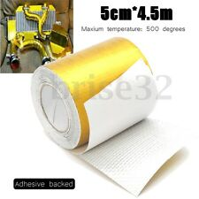 15ft Fiberglass Self Adhesive Gold High Temperature Heat Wrap Tape Up to 500℃