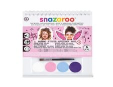 SNAZAROO CHILDRENS GIRLS FACE PAINT KIT - PRINCESS FAIRY FLOWER BIRTHDAY PARTY