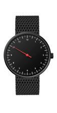 Wrist Watch - Men & Women - One-Hand Minimal Black Stainless Steel + Mesh Strap