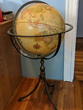 "Replogle 16"" World Classic Series Globe Metal Stand Made in Usa Vintage 70S"
