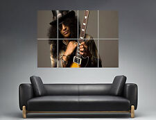 Slash Guitarrista Legend guns n roses Wall Arte Cartel Grande formato A0 Largo