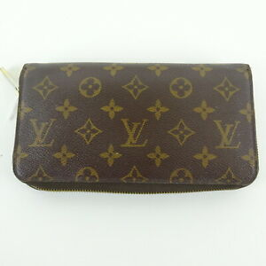 Beau Dunn LOUIS VUITTON Brown Monogram Leather Clutch Wallet
