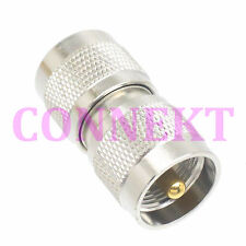 1pce UHF male to UHF male plug in series RF coaxial adapter connector