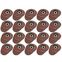 """4.5"""" / 115mm Sanding Grinding Flap Discs For Angle Grinders 40 60 80 120 Grit"""