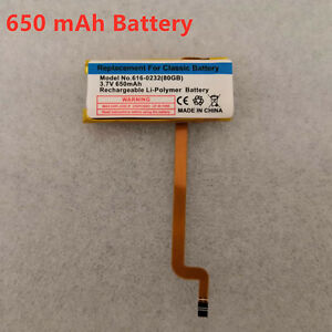 650 mAh battery for IPod Classic 6 7th Gen 80/120/160GB Video 30GB🔥