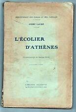 L'ÉCOLIER D'ATHÈNES par André LAURIE, Collection Hetzel, Hachette vers 1920 ?