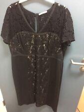 Beautiful M&S Woman Black Lace Dress Size 18