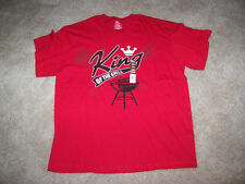 NWT Red King of The Grill Shirt Size XL (46-48) Short Sleeves