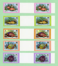 Tuvalu 19 Gutter Pairs, SC 96 - 113 includes 108A, Fish 1979, MNH