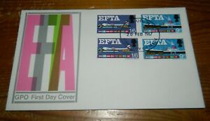 """GB QEII 1967 EFTA """"DOUBLE"""" FIRST DAY COVER (ORD. & PHOS. STAMPS)"""
