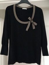 *PRE LOVED*LADIES BLACK/CHAMPAGNE COTTON BLEND KNITTED TOP, SMALL by PLANET