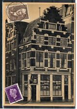 NETHERLANDS = 1948 Used PPC to AURORA, ILL. `HAARLEM STATION` cancel. (m)