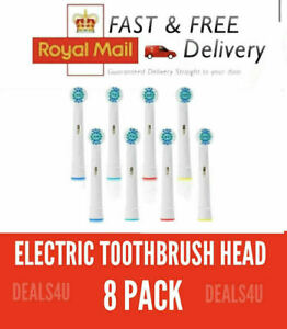 Replacement Electric Toothbrush Heads 8 Pack Compatible With Oral B Braun Models