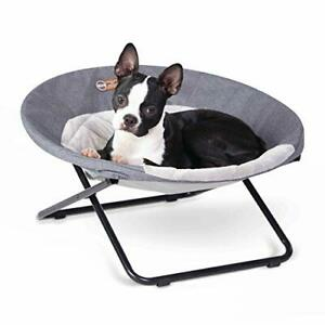 K&H PET PRODUCTS Elevated Cozy Cot Classy Gray Medium 24 Inches