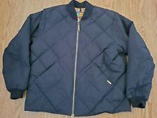VTG 80s Eddie Bauer USA Bauer Down Premium Goose Down Nylon Bomber Jacket XL