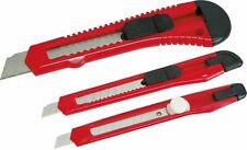 Cuttermesser / Teppichmesser / Japanmesser, 3-teilig