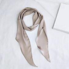 Long Ribbon Silk Scarf Shawl Head Neck Wrap Neckerchief Hair Tie Band Bag Handle