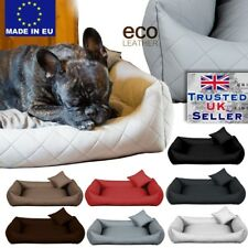 Delux ECO-LEATHER Comfy Dog bed Cat Pet Sofa Bed Cushion Extra LARGE up to130cm