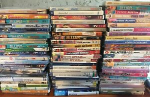 VGC 18 workout exercise fitness DVD lot yoga pilates tae bo cardio dance toning