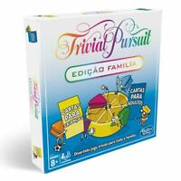 Hasbro Gaming Trivial Pursuit Family Board Game, Multi-Colour Portuguese version