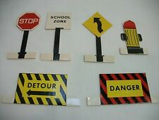 Midgetoy Vintage Paper Street Signs ~ Great Condition