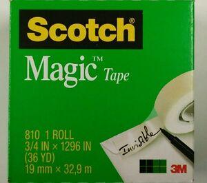 8 x 3M Scotch 810 Magic Tape 19 x 33m
