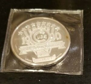 1990 Chicago Cubs All Star Game 1 Troy OZ silver  7039 (iiiv)