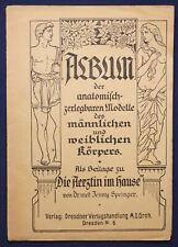 Album der anatomisch-zerlegbaren Modelle des männ. & weibl. Körpers um 1930 sf