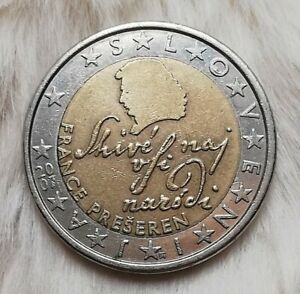 ~~~2 Euro Münze~~~ ~~{*Fehlprägung*}~~  Slowenien 2007 (FRANCE PRESEREN)