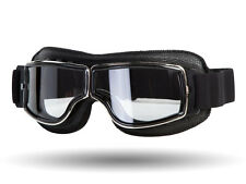 IV2 Classic Black Motorcycle Goggles (CLEAR LENS) | AntiScratch, 100%UV Shield