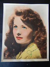"Jeanne Crain Autographed 8"" X 10"" Photograph from Estate"