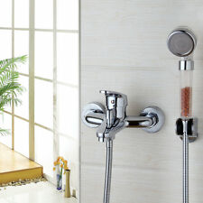 Brass Chrome Polish Shower Set Wall Mounted Single Lever Mixer Tap Bath Tub Tap
