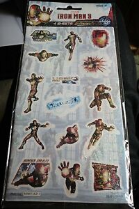 60 Assorted Marvel Iron Man 3 Stickers w/ Holographic & Regular Stickers