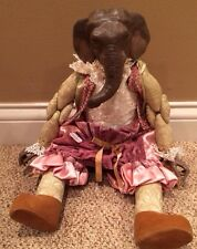 "Katherine's Collection Wayne M. Kleski Retired Victorian 18"" Elephant Doll Rare"