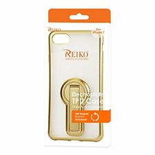 Reiko iPhone 8/ 7 Soft TPU Slim Clear Case With Diamond Frames In Gold